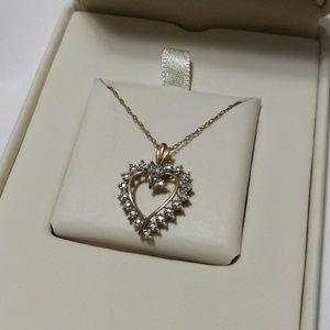 Jewelry - Diamond heart necklace 14k gold 💎